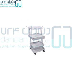 سرویتور-دندانپزشکی-سه-طبقه-فلزی-کشودار-مدل-SD1