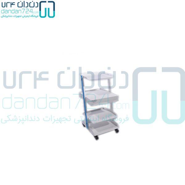 سرویتور-دندانپزشکی-سه-طبقه-فلزی-کشودار-مدل-SD2