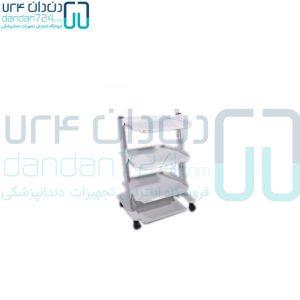 سرویتور-دندانپزشکی-فلزی-2-طبقه-پایه-پدال-دار--مدل-SP2